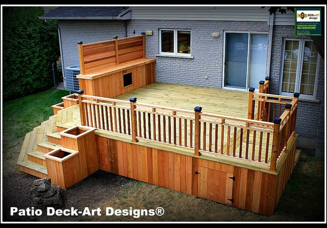 PATIO DECK-ART DESIGNS OUTDOOR LIVING - Traditional - Deck - montreal ...