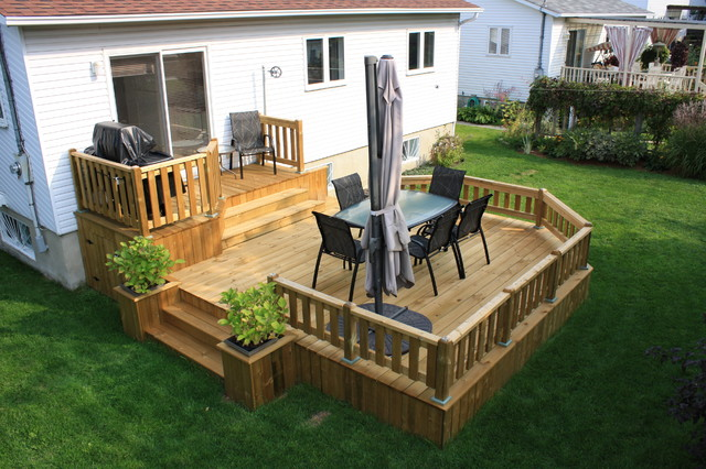 Patio Deck-Art Designs® NEW 2013 - Traditional - Deck ... on Tiered Patio Ideas id=16636