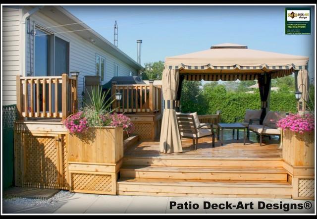 PATIO DECK-ART DESIGNS OUTDOOR LIVING traditional-deck