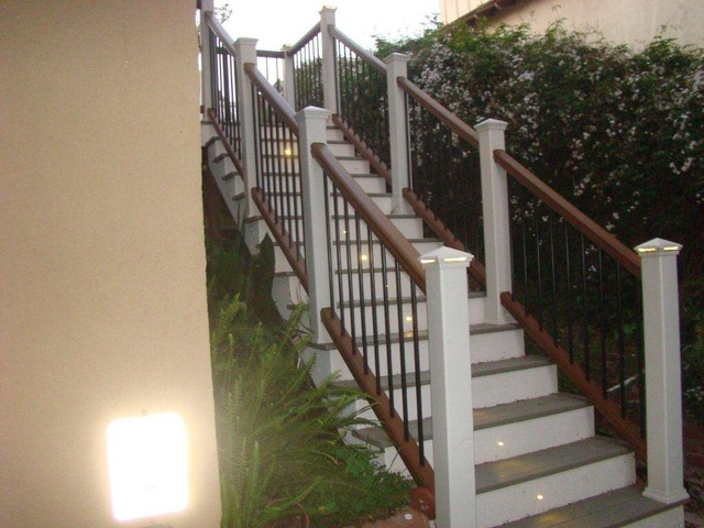Trex Composite Deck Stairs Traditional Deck Orange