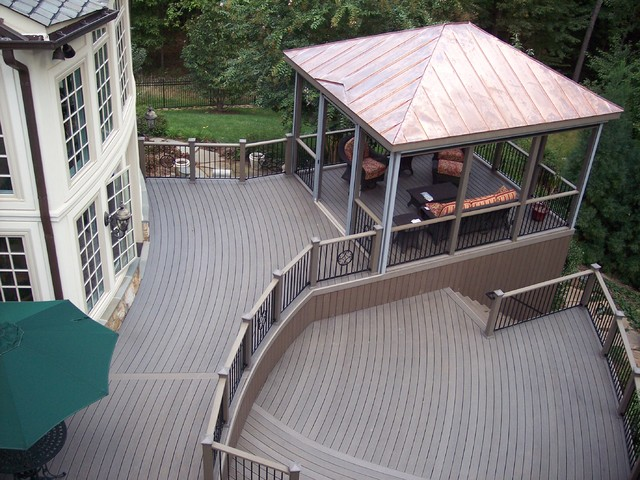 Trex composite decking traditional deck other by for Outdoor composite decking