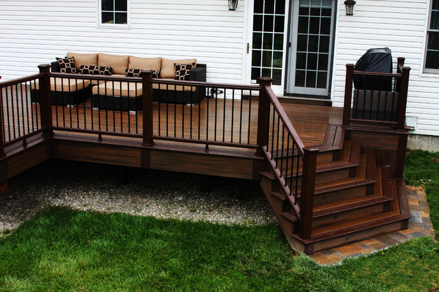 Trex curved deck richboro contemporary deck philadelphia by