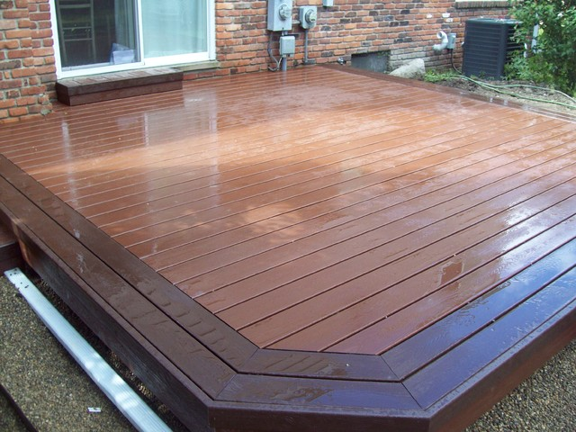 Trex transcends fire pit color deck with vl border for Garden decking borders