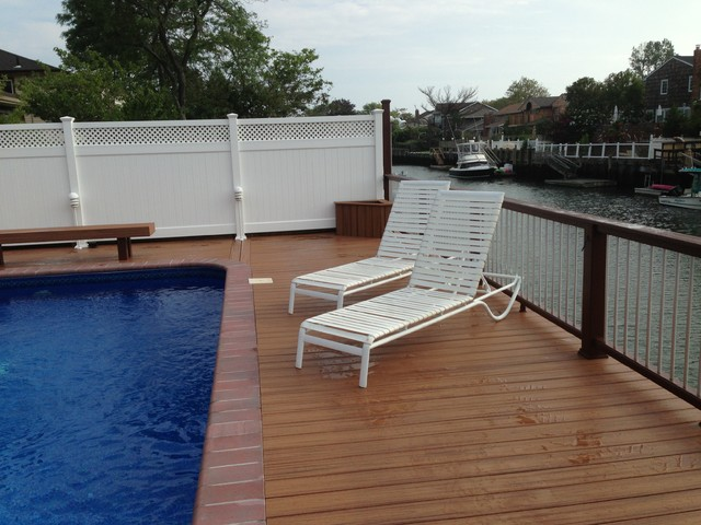 Trex transcends tropics tiki torch decking for Who makes tropics decking