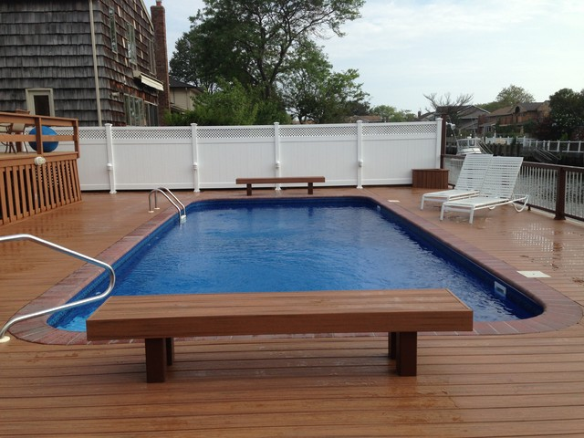 Trex transcends tropics tiki torch decking modern deck for Who makes tropics decking