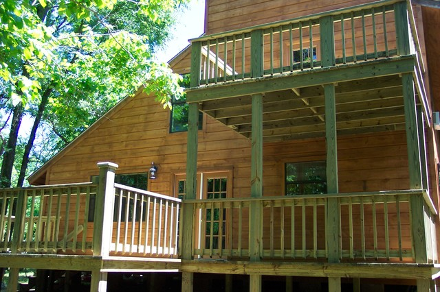 Two story deck traditional deck austin by for How to build a 2nd story floor