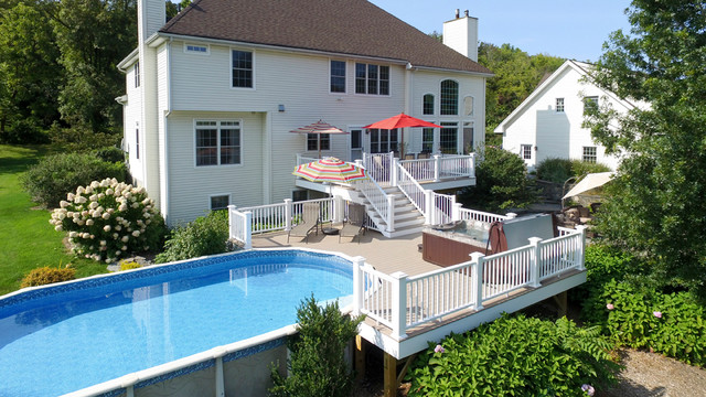 Two Tier Pool Deck Traditional