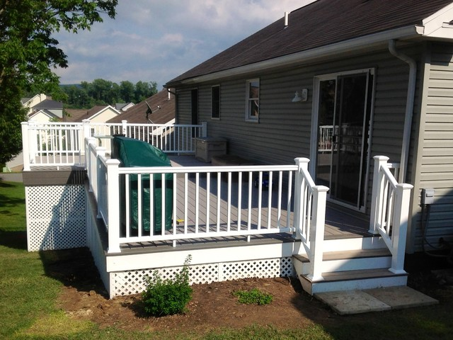 Two Tone Timbertech Reliaboard Grey Beach Style Deck