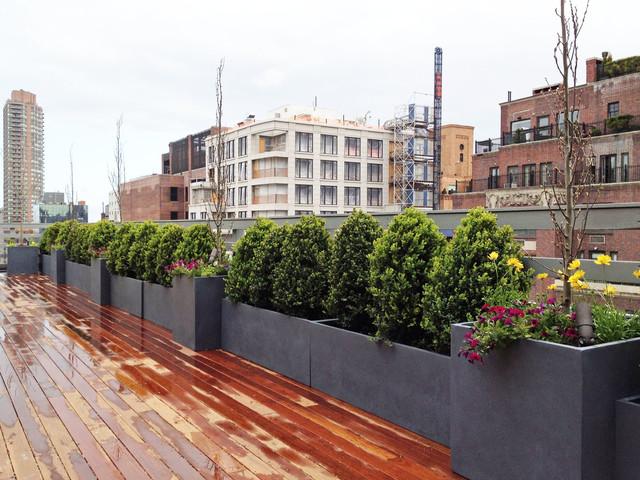 Ues Rooftop Terrace Roof Garden Deck Container Plants Pots