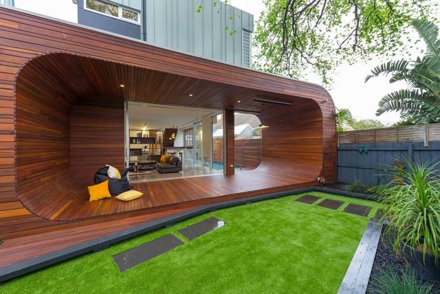 Ultra Modern Oval Outdoor Deck Contemporary Deck