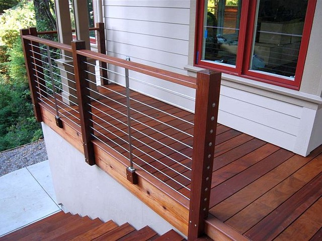 Ultra-tec® stainless steel cable railing system - Modern - Deck ...