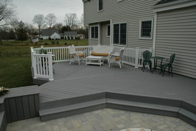 Unique deck and patio combination design in middletown ct for Balcony colour combination