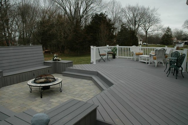 Charming Unique Deck And Patio Combination Design In Middletown, CT Traditional Deck