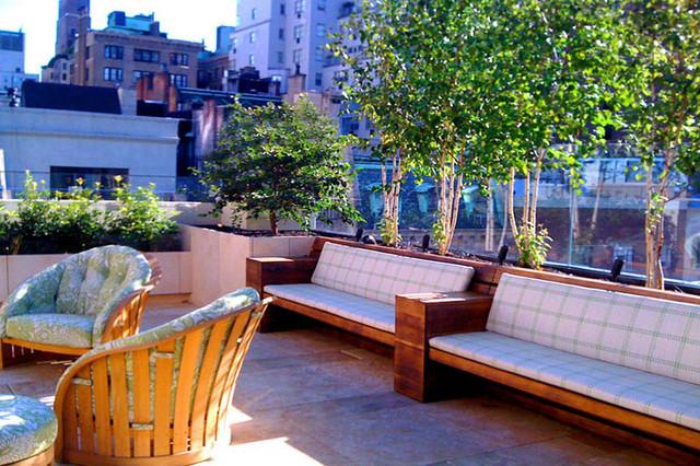 Upper East Side Townhouse Garden Roof Terrace Stone