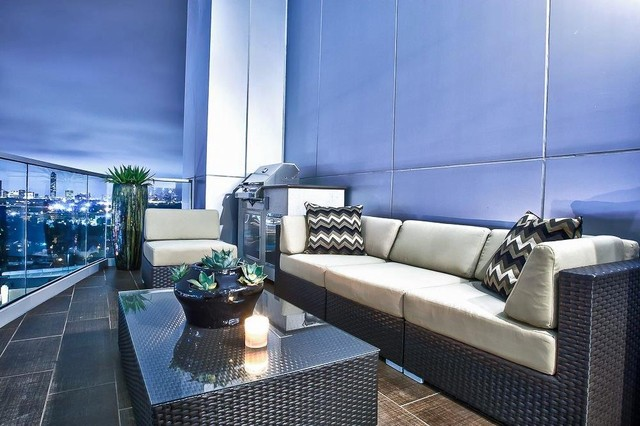 Upper Kirby Highrise Condo Contemporary Terrace Houston By Pearl Design Houzz Uk
