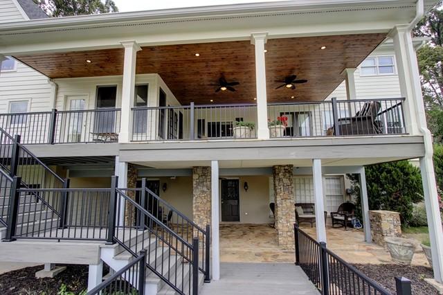 Upper Lower Stone Patio Deck Amp Porch Contemporary