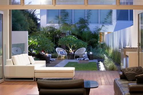 contemporary deck - Tips Membuat Taman Di Dalam Rumah Yang Nyaman & Asri