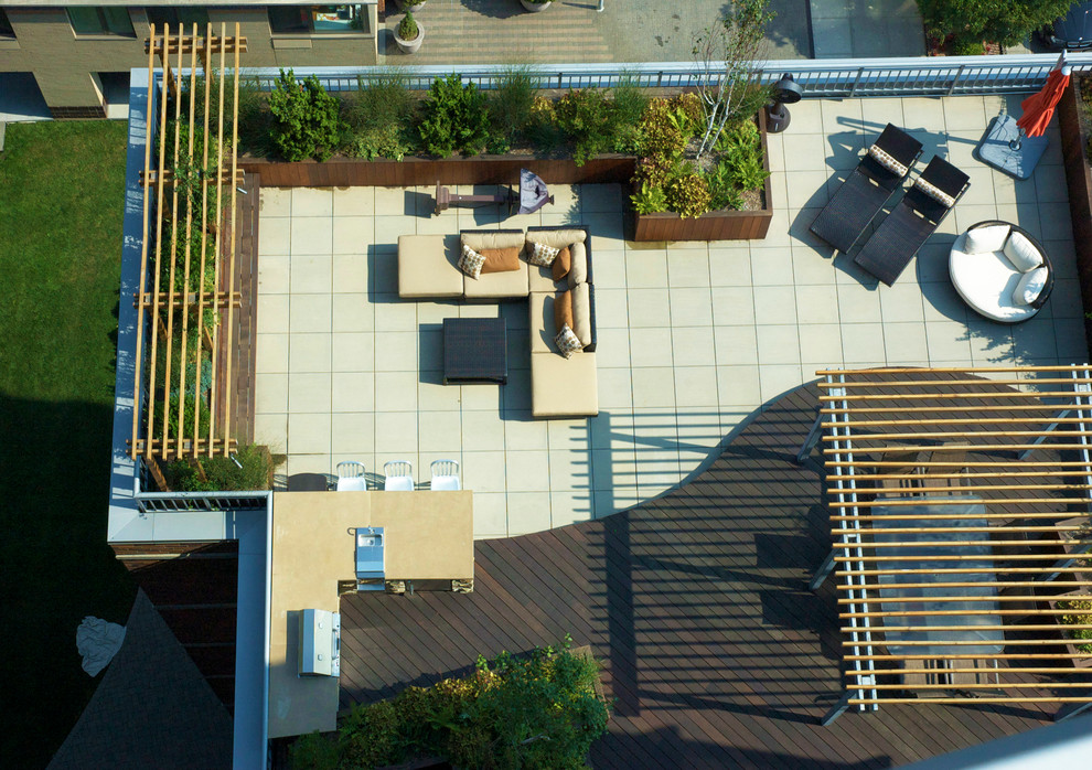 Urban Roof Terrace Contemporary Deck New York By Kokobo Greenscapes