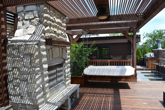 Elevated Style in Lakeview contemporary-patio