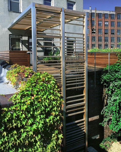 Urban Trellis amp Roof Deck Modern New York By