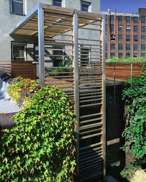 Urban Trellis amp Roof Deck Modern New York By