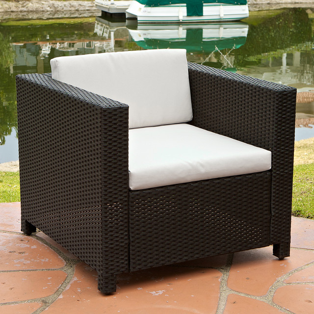 Venice Outdoor Club Chair With Ivory Cushions