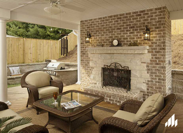 Walnut Creek Tudor Brick Home Tennessee Country Deck