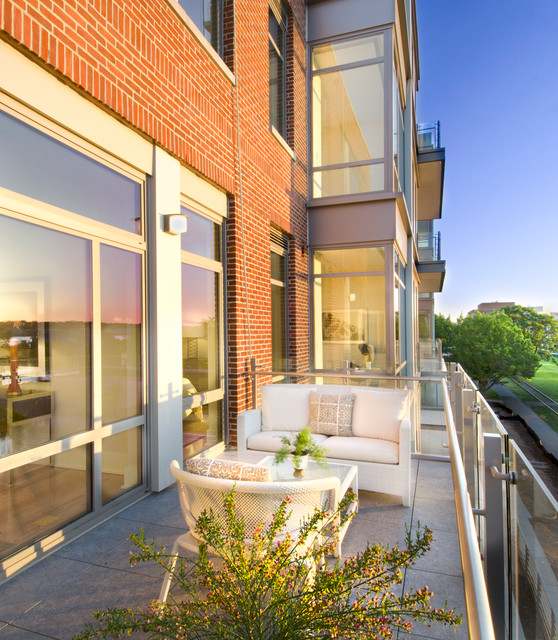 Waterfront Condo Contemporary Deck Dc Metro By M S