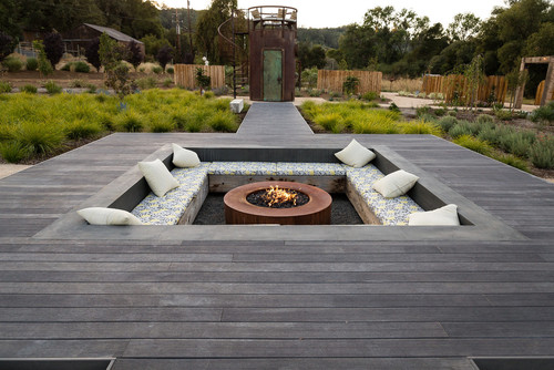 Fire Pit with Deck Surround