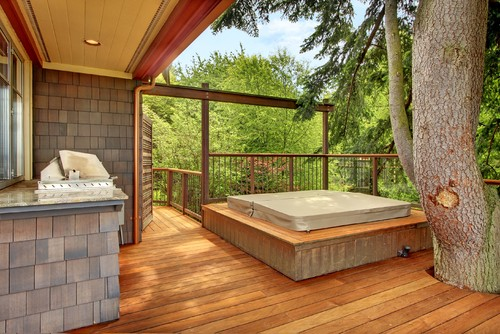 hot tub inspiration for your porch