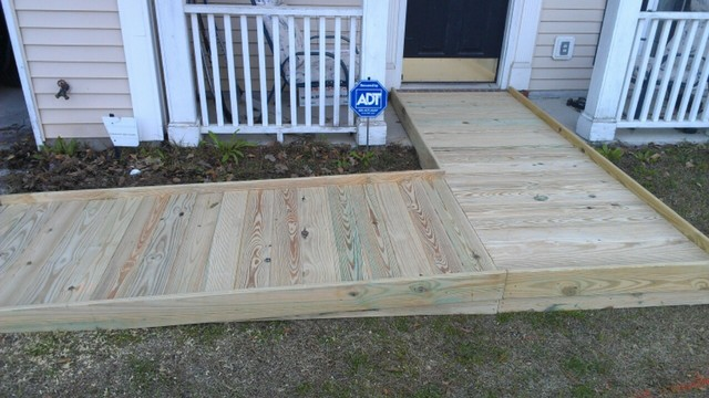Great Wheelchair Ramp Traditional Deck