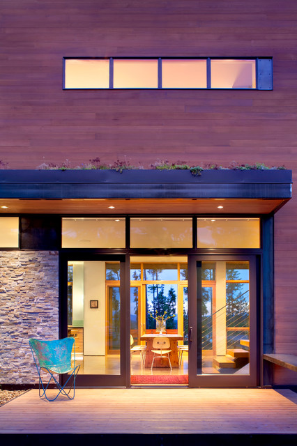 Whitefish Mountain Residence contemporary-entry