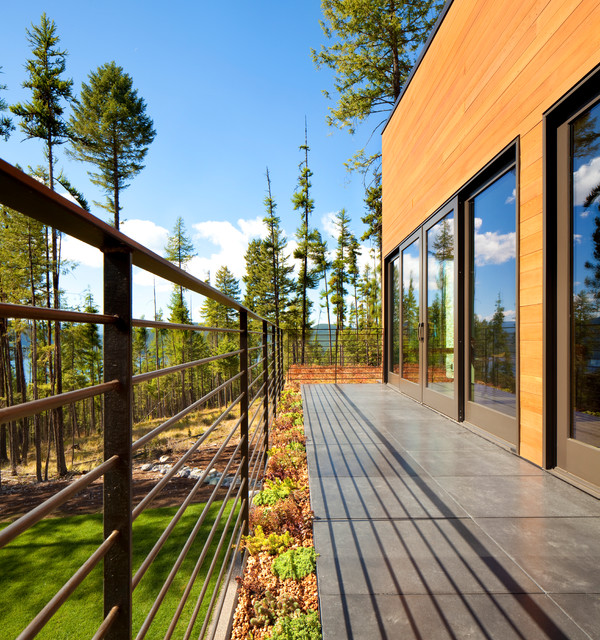 Whitefish Mountain Residence contemporary-deck