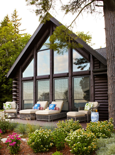 Whitewashed Lake Cabin Rustic Deck Milwaukee By