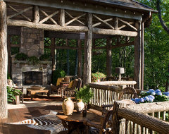 William T Baker Houses rustic porch