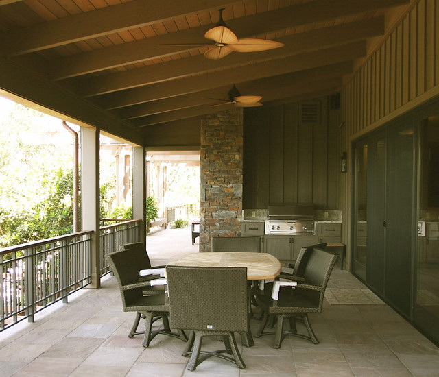 Wine Country Living Rustic Porch San Francisco By