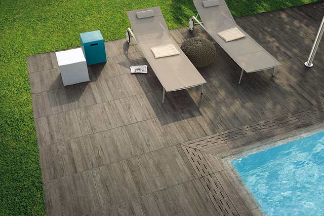Wood Porcelain Tiles Contemporary Deck Other Metro By Catalfamo Flooring