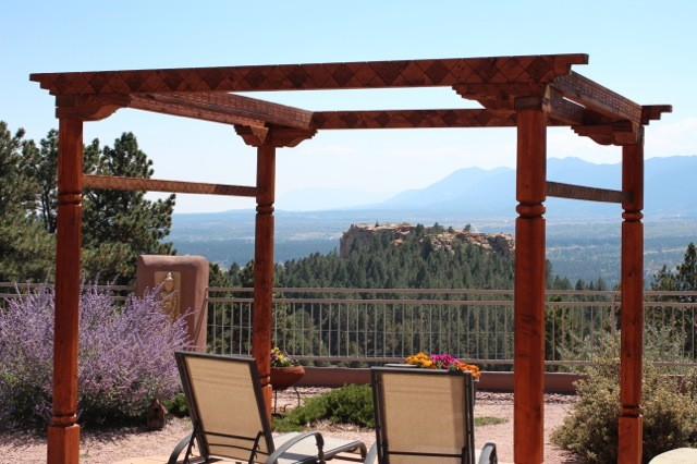 Wooden carved pergola southwestern style for Southwest pergola
