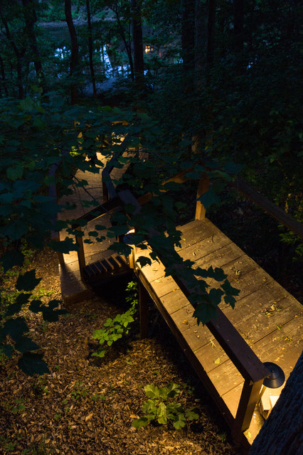 Woodstock Ga Path Lighting Project Rustic Deck