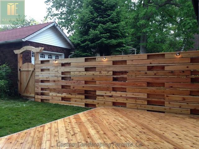 Wrap Around Deck With Horizontal Fence Amp Pergoal