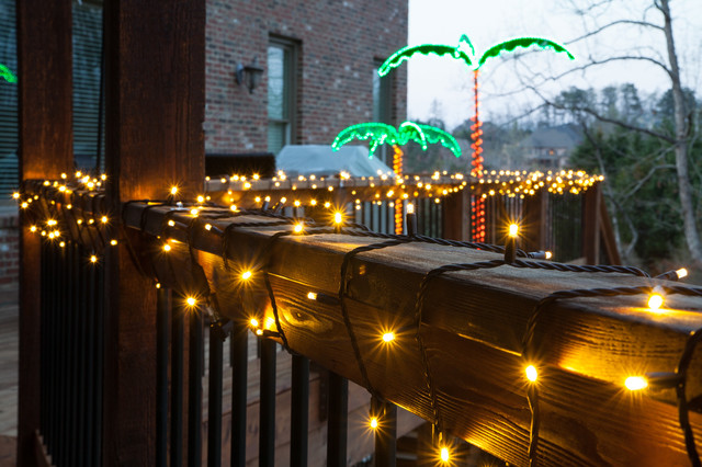 Wrap Railings In Lights Traditional Deck Atlanta