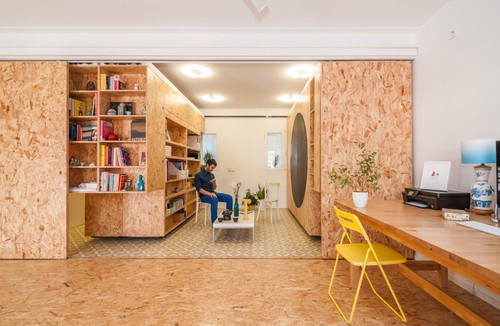 From Floors To Bookshelves To Doors To Walls, This Modern Space Is An OSB Loveru0027s  Dream Come True. And Proof That OSB Looks Anything But Cheap Even Though ...