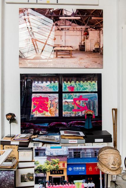 Выдающиеся фото от архитекторов и дизайнеров интерьера: кабинет в стиле фьюжн