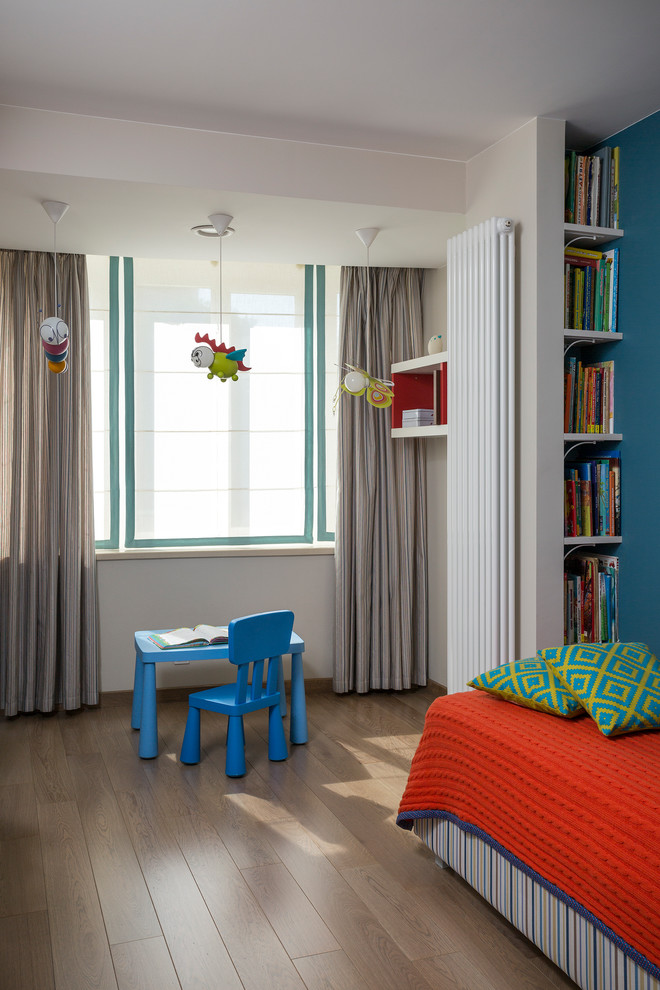 Example of a trendy kids' room design in Moscow