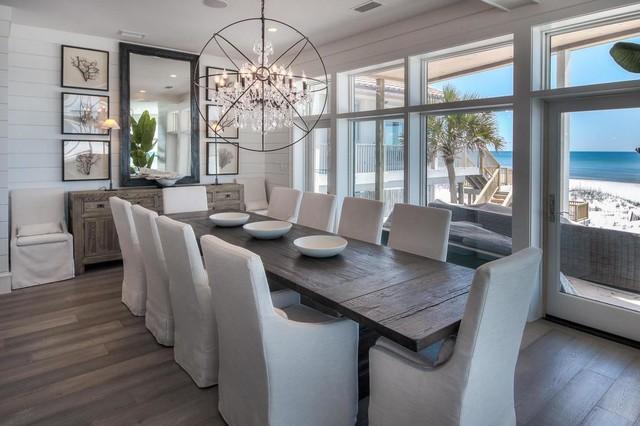 Top 30 Mid-Sized Beach Style Dining Room Ideas & Photos   Houzz