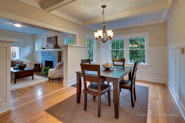 1913 Portland Style Craftsman Traditional Dining Room