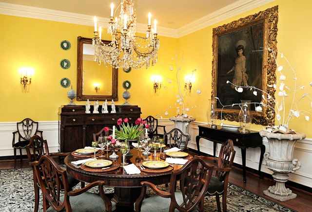 1914 georgian residence traditional dining room for 8x8 dining room