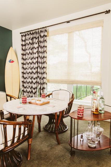 1960u0027s Malibu Inspired New Construction Retro Dining Room