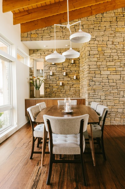 Perfect 1960u0027s Malibu Inspired New Construction Midcentury Dining Room