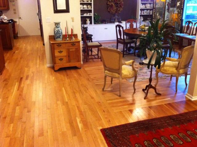 2 1 4 american cherry hardwood flooring living room dining room traditional dining room